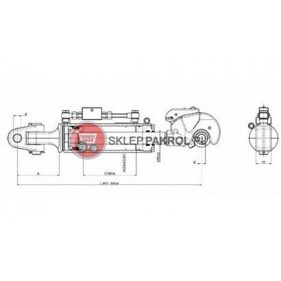 Łącznik centralny - hydrauliczny kat. 2