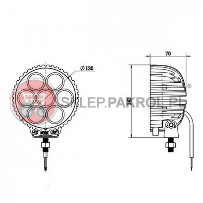 Lampa robocza led 3180 Lm
