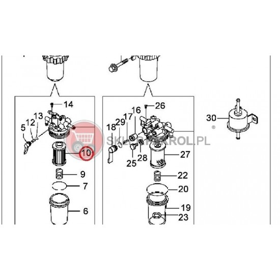 Filtr paliwa (dokładny)