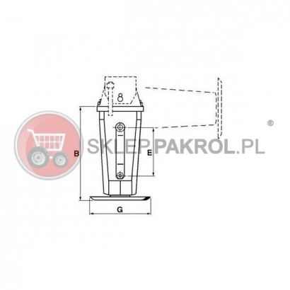 Stopa podporowa,SIMOL DS510S 330 mm 6000 kg