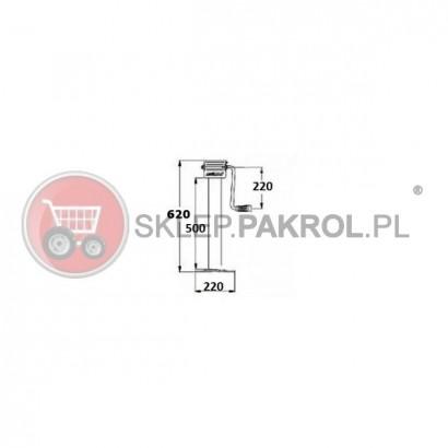 Stopa podporowa SIMOL DG701W, 620 mm 3000 kg z ramieniem bocznym