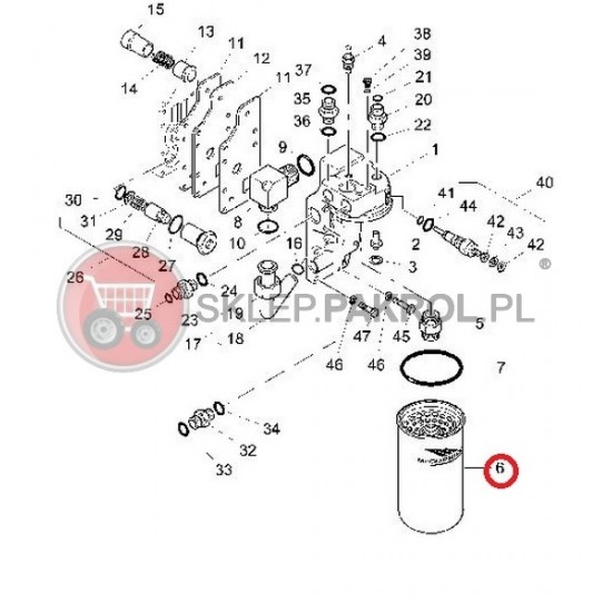 Filtr oleju hydraulicznego (skrzynia)